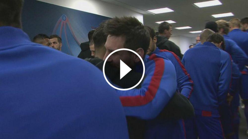 VIDEO: ¡Amigos son los amigos! Los cariñosos abrazos de Dani Alves a Messi y Neymar