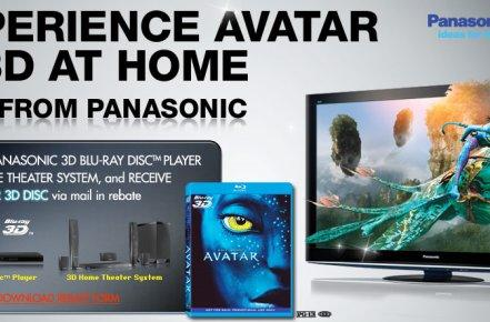 Panasonic extends Avatar Blu-ray 3D promotion by giving away copies with new Blu-ray players