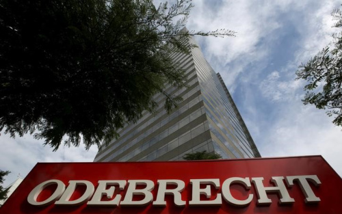 The headquarters of Odebrecht SA is pictured in Sao Paulo