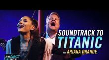 Ariana Grande and James Corden Perform 'Titanic' Musical Number on 'Late Late Show'