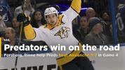 Forsberg, Rinne help Predators beat Avalanche 3-2 in Game 4