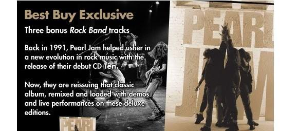 Rock Band DLC to be bundled with re-release of Pearl Jam's 'Ten'