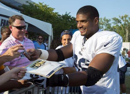 NFL: St. Louis Rams-Michael Sam Press Conference