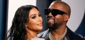 Kim Kardashian and Kanye West at the Vanity Fair Oscar party during the 92nd Academy Awards. (Reuters)