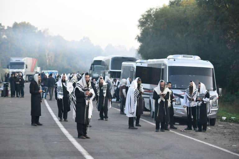 每个犹太新年,成千上万的哈西德犹太人前往乌克兰中部城市乌曼,参观布雷斯洛夫·哈西迪克运动的创始人拉比·纳赫曼的墓