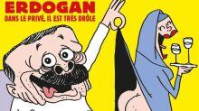 El enojo de Erdogan tras una polémica caricatura en la nueva portada de Charlie Hebdo
