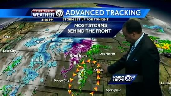 Front to bring storms, much cooler weather
