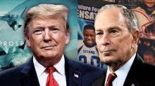 Trump and Bloomberg preview Super Bowl ads in contrasting keys