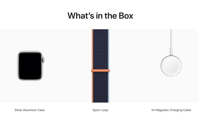 The Apple Watch doesn't come with a power adapter anymore