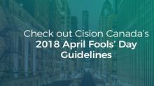 Cision's 2018 April Fools' Day Guidelines