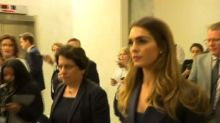 Hope Hicks rebuffs questions on Trump White House