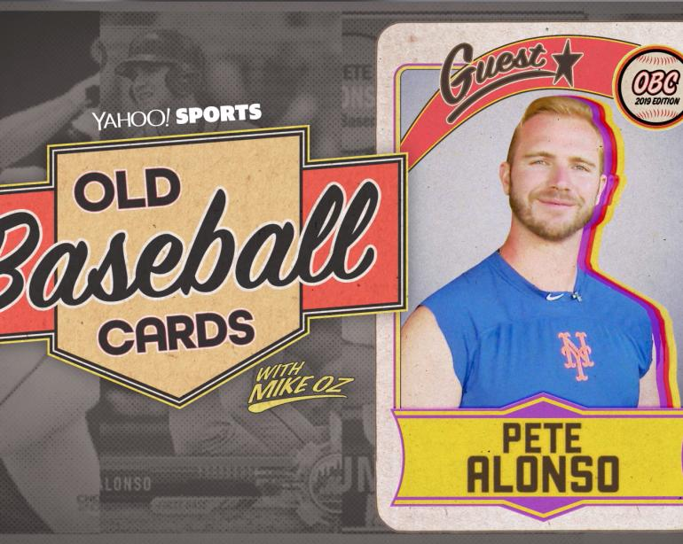 Pete Alonso Opens Old Baseball Cards Video