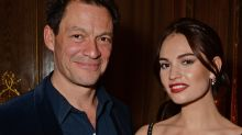 Lily James' awkward comment on affairs after Dominic West kiss