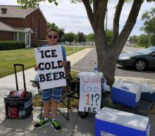 Utah boy advertises 'Ice Cold Beer' at root beer stand
