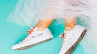 A definitive guide to wearing trainers on your wedding day