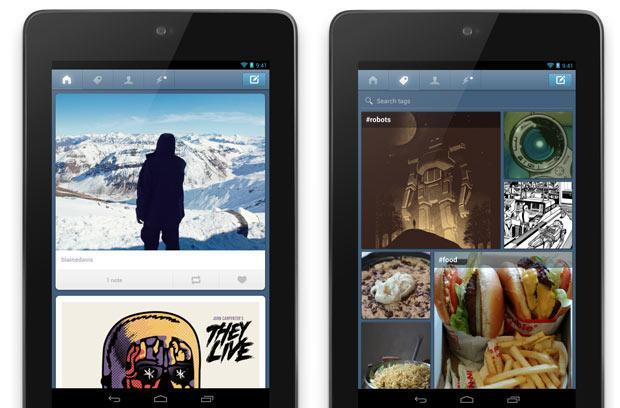 Tumblr Android app update brings tablet support, new 'following screen'