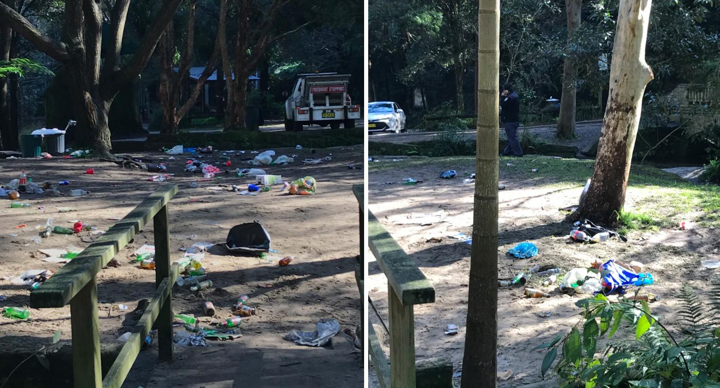 Coronavirus Sydney: 'Disgraceful' photos of trashed park emerge after party