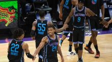 Hield nears Stojakovic's 3-point record; Kings beat Thunder to keep playoff hopes alive