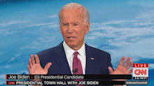 Joe Biden confronted at CNN town hall with question on his fundraiser's fossil fuel ties