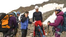 French police on Mont Blanc duty try to keep climbers in line