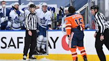 Travis Dermott golf-clapping the Oilers is the most hilarious moment of the season