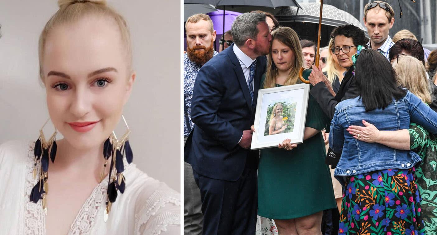 Heartbroken family and friends farewell Sydney stabbing victim Michaela Dunn