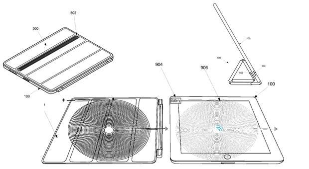 Apple proposes iPad wireless charging with a difference: power comes from the Smart Cover