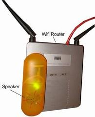 Parasitic device adds baud modem tones to your wireless router