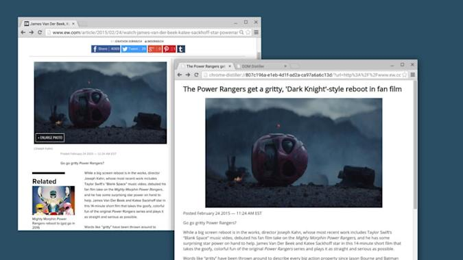 Google is working on a Chrome reading mode, try it out