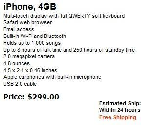 Apple killing 4GB iPhone, $299 while supplies last