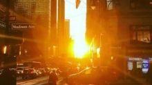 'Manhattanhenge' Sunrise Dazzles Onlookers in New York City