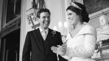 Princess Eugenie shares previously unseen wedding photos to celebrate her anniversary