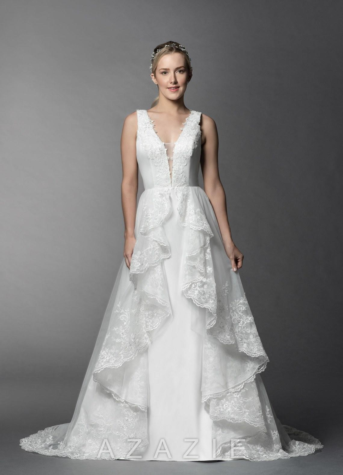 4ac8d3c63d 65 Plunging Neckline Wedding Dresses For The Daring Bride