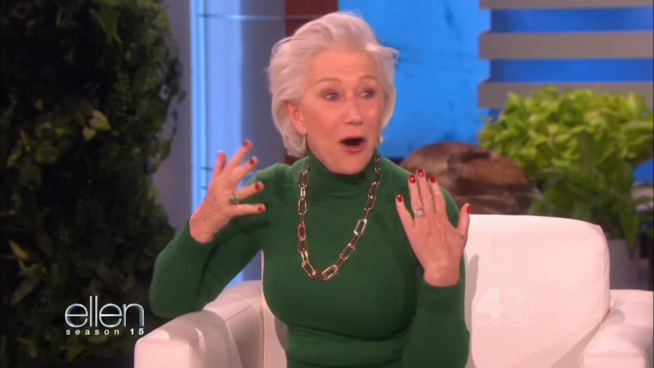 Helen Mirren Fakes with regard to helen mirren discovered she's a year younger