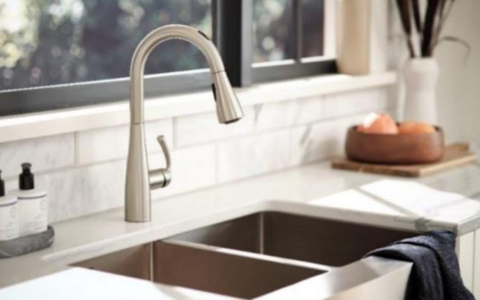 Moen's voice-activated faucet gives cooks precise amounts of water