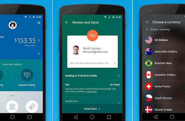 PayPal's redesigned mobile app makes money transfers easier