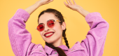 Girl wearing sunglasses. (ITK)