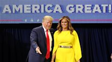 Melania Trump kicks off 2020 campaign in bold yellow jumpsuit worth $2,790