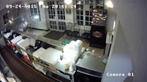 Drunk driver crashes through chippy and drives off