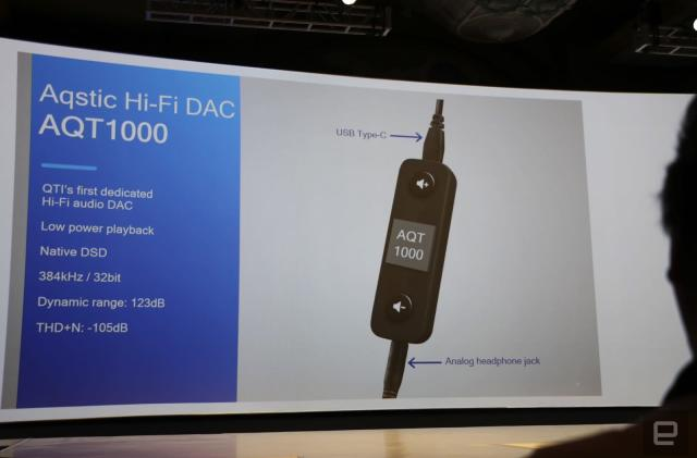 Qualcomm made a USB-C DAC to show off its hi-fi audio tech