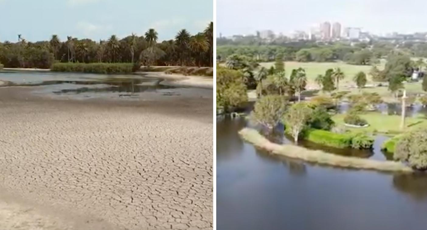 Before and after photos reveal amazing transformation after massive deluge