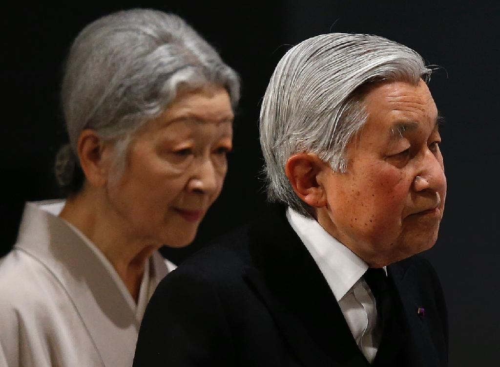 Japan's Emperor Akihito and Empress Michiko have been on the Chrysanthemum Throne for 27 years after coming to power in 1989 (AFP Photo/Toru Hanai)