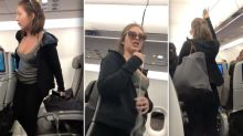 Woman kicked off plane after shocking act during drunken rage
