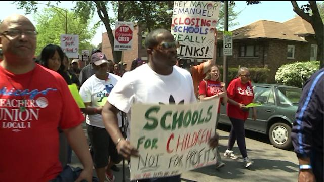 CPS School Closings Protest