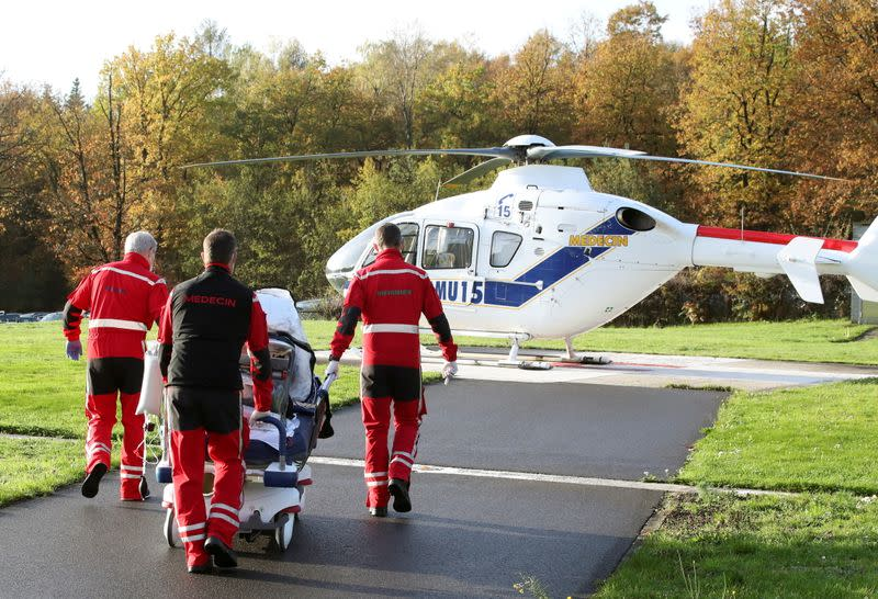 Belgium launches COVID patient air-lifts to Germany