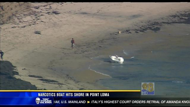 Narcotics boat hits shore in Point Loma