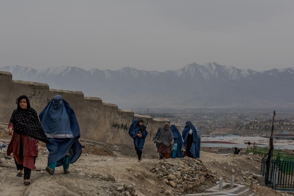 Kabul's 'hill of widows' is home to a cluster of Afghan women who have eked out independence in a society that shuns and condemns them as immoral. (AFP Photo/Rebecca CONWAY)