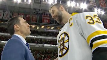 Rod Brind'Amour and Zdeno Chara share classic handshake moment after Bruins' sweep