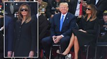 'Disrespectful' Melania Trump criticised for leaving sunglasses on during D-Day ceremony
