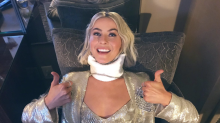 Paula Abdul's 'flying hat' puts Julianne Hough in a neck brace: 'Caught in a hit and run'